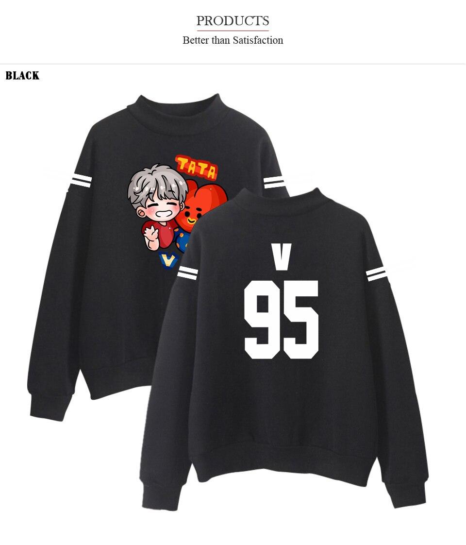 537744e5c3 2018 Meninos Bangtan Kpop idol Golas Hoodies Moletons Anime Hoodies  Camisolas Impressão Mulheres Com Mais de Tamanho 4XL