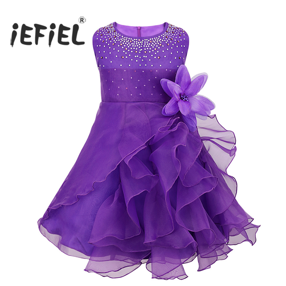 Compare prices on girls purple bridesmaid dress online shopping brand flower girl dresses for wedding pageant prom party purple dress baby kids clothes little toddler ombrellifo Gallery