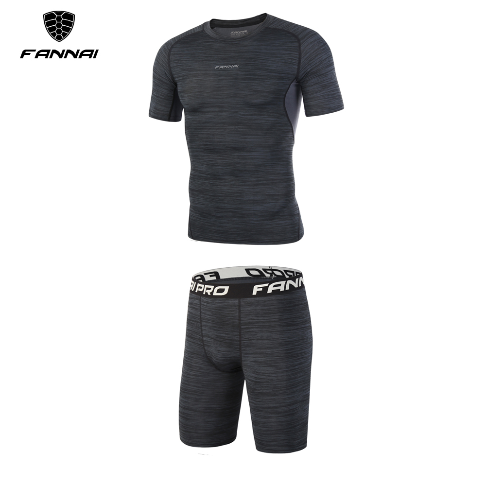 2 pieces Running Sets Mens Summer Short sleeve Clothes Fitness Basketball tennis Soccer Gym Jogging Clothing Sports Suits