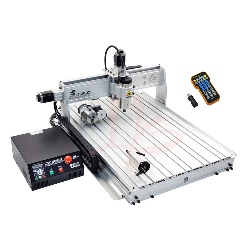 4 axis cnc metal engraving machine 8060 Z 2200W Spindle cutting wood router milling Machine with USB Port and limit switch jft cnc router 3040 600w 4 axis with usb 2 0 port high precision mini jewelry cnc router wood engraving drilling milling machine