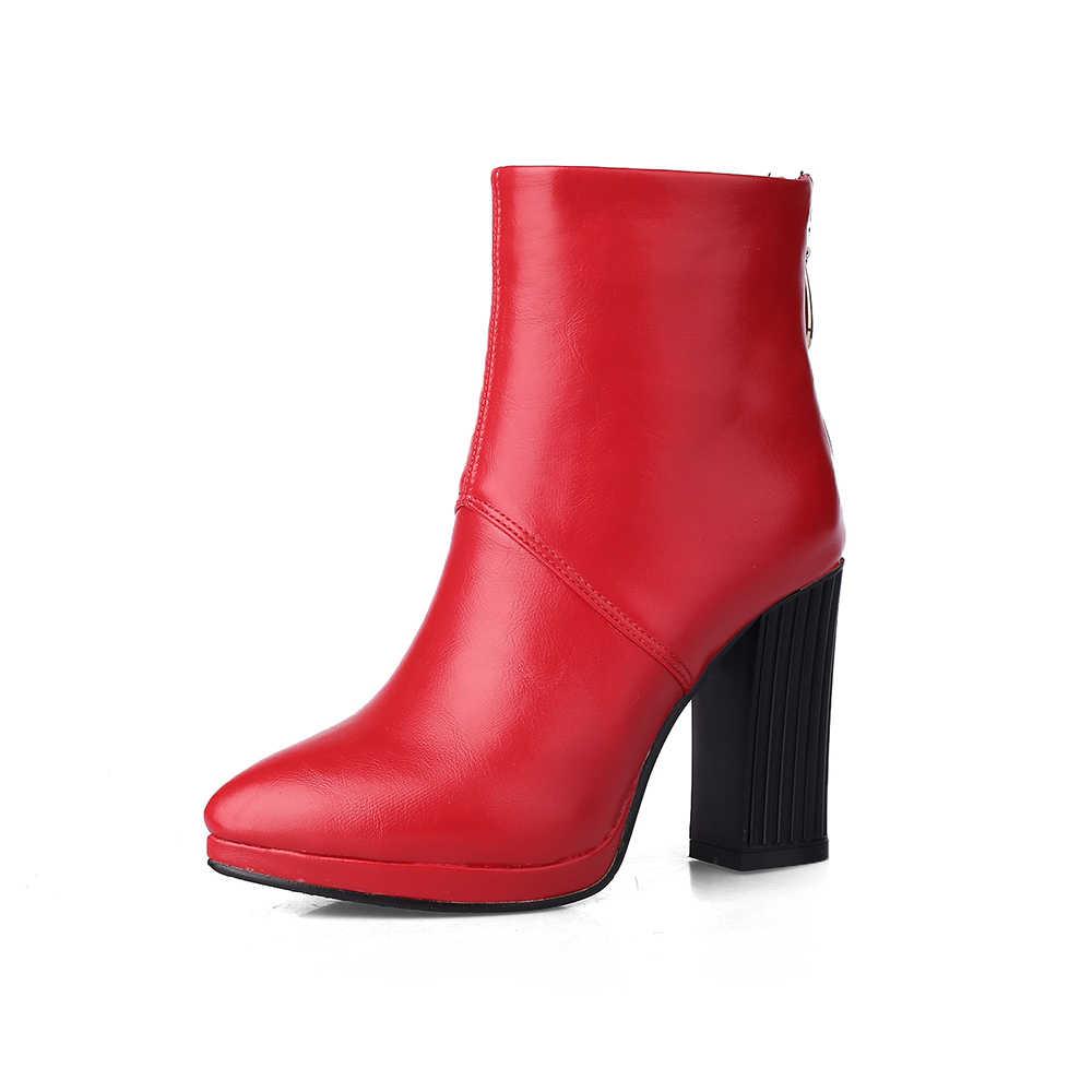 2018 New sexy ankle khởi động mùa đông phụ nữ khởi động phụ nữ văn phòng giày cao gót mỏng poine toe ít nền tảng giày phụ nữ
