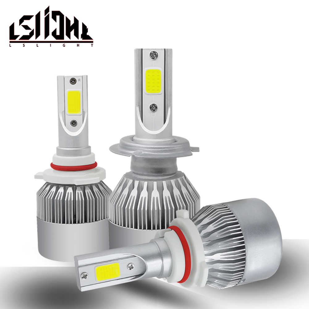 LSLight C6 Car LED Headlight H7 H4 LED Bulb H11 HB3/9005 HB4/9006 H1 H3 9012 55W 9600lm Luces LED lampada carro luces para auto
