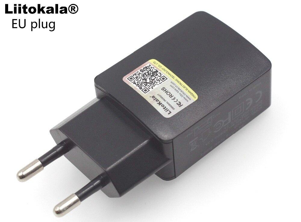 Liitokala 1A 2A USB Portable EU Plug Lii100 Lii202 Lii402 Charger Universal Plug
