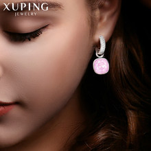 Xuping Fashion Earrings Drop Earring High Quality Crystals from Swarovski Color Plated Charm for Women Mother's Day Gift M66-203(China)