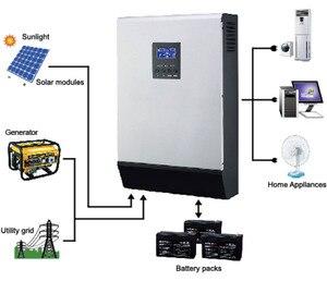 Image 5 - Onduleur solaire hybride PS1KVA à onde sinusoïdale Pure, 12v dc, sortie 230v AC, avec chargeur AC, contrôleur de Charge solaire 50a, PWM, Promotion
