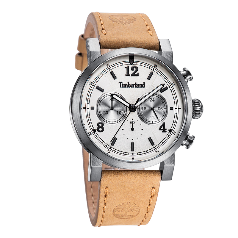 Timberland Mens Watches Casual Quartz Leather Buckle Men's Watches Chronograph Water Resistant T14811 4