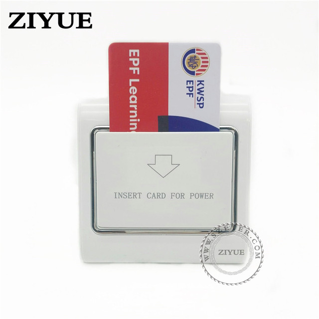 20ピース/ロットどんなカード電源スイッチ省エネスイッチ用ホテルのキーカードスイッチクレジットカード紙銀行カード作品