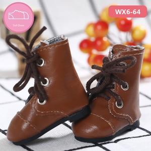 Image 2 - Chaussures en cuir PU BJD 1/6, bottes décontractées pour Linachouchou, pour poupée, accessoires, luodoll, livraison gratuite