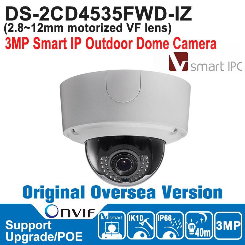 New HIK IP Camera POE 3MP DS-2CD4535FWD-IZ IP Camera Outdoor 3MP Smart IP Outdoor Dome Camera IP66,IK10,Audio/Alarm IO new step ahead 3 wb audio cd
