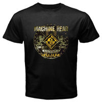 New MACHINE HEAD HELLALIVE Metal Rock Band Men's Black T-Shirt Size S To 2XL New Fashion T Shirt Graphic Letter Gray Style