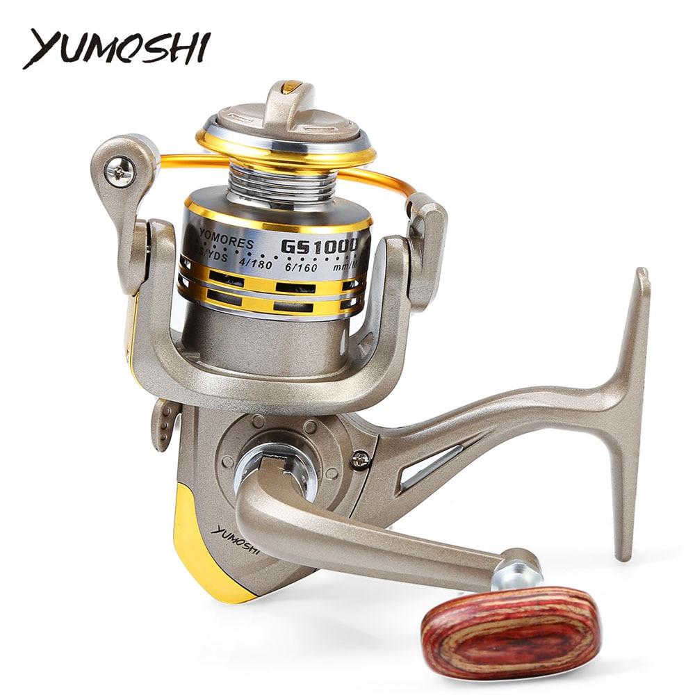 YUMOSHI 8 poissons BB ratio 5.1: 1 1000-7000 Série Spinning Reel Fishing manivelle poignée volant pour d'eau douce Saltwat