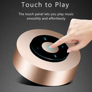 Image 5 - Aimitek A8 Mini Wireless Bluetooth Speaker Portable Touch Screen Stereo Subwoofer MP3 Player with Microphone TF Card Slot AUX in