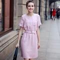 2017 Summer Style New Designer Fashion Women Short Sleeve O Neck Elegant Casual Cute Tunic Dress Vestidos