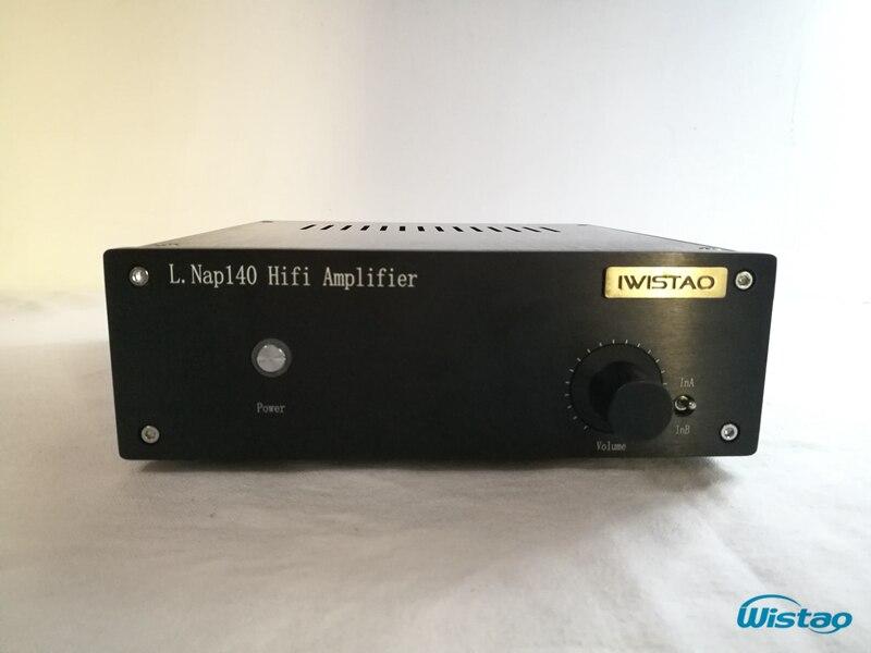 IWISTAO HIFI Versterker 80Wx2 Stereo Verwijzen Naim NAP140 MellowSoft Geluid Buis Smaak Zwarte Hele Aluminium Behuizing Hoge Kwaliteit-in Versterker van Consumentenelektronica op  Groep 1