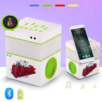 Mini Bluetooth Speaker Colorful Led Light Dual Subwoofer Speaker KTV Stage Stereo Music With Mobile Phone