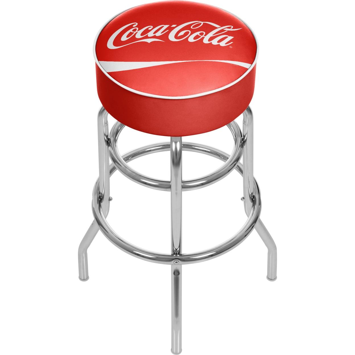 Coca Cola Padded Swivel Bar Stool 30 Inches High coca cola vanilla нижний новгород