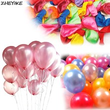 ZHEYIKE 1pc Pink Latex Ballon Happy Birthday Balloons Round Balloon Wedding Party Decoration Kids Boy Girl Party Ballons Globos(China)