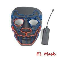 Оптовая продажа 10 шт. LED Neon собака маска EL маска и устойчивый на EL драйвера для Хэллоуина маска и ночь страшно бар украшение партии