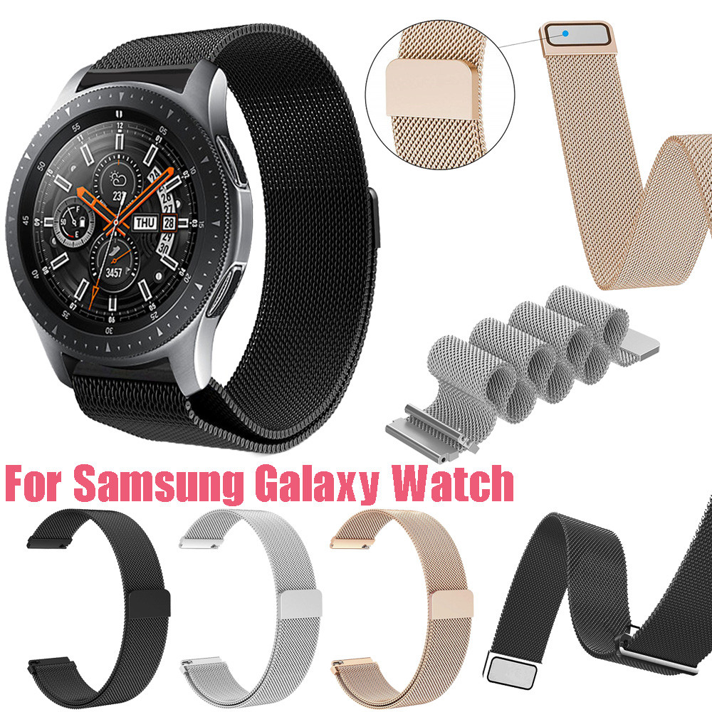 46mm Luxury Milanese Magnetic Loop Stainless Steel Metal Bracelet Wristband Strap For Samsung Galaxy Watch 8.22 все цены