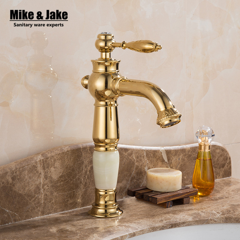 Free shipping Golden carve Luxury Bathroom Faucet Gold finish hot & cold Brass Basin Sink Faucet Single Handle with ceramic taps free shipping luxury solid brass bathroom basin tap with single handle bronze black basin faucet of hot cold mixer taps