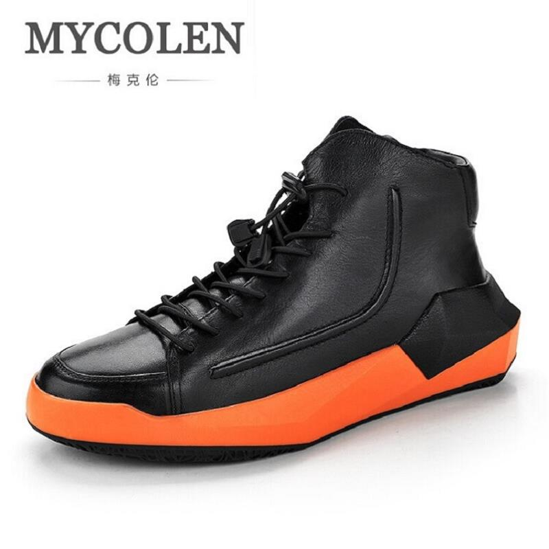 MYCOLEN Men Winter Boots Snow Lace up Martin Boots Velvet Black Men Ankle Boots Warm Men Shoes Zapatos Casuales De Hombre laipute brand new keychain nurse watches fob doctor quartz hanging pocket watch relog luminous hands zakhorloge montre