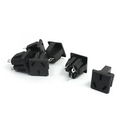 6pcs PCB Board Square Socket Adapter Connector AC250V 16A AU Plug 2 0mm pitch ph connector plug socket plastic shell wire to board pcb weld plate 2p3p4p5p6p7p8p9p10p11p12p13p14p15p16p
