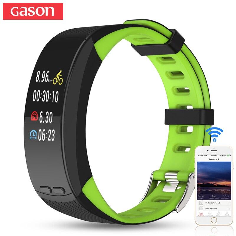 GASON Sport Oled Montre Smart Watch Band Bracelet Coeur Pression Fitness CalorieWristband étanche Sommeil GPS Tracker Podomètre