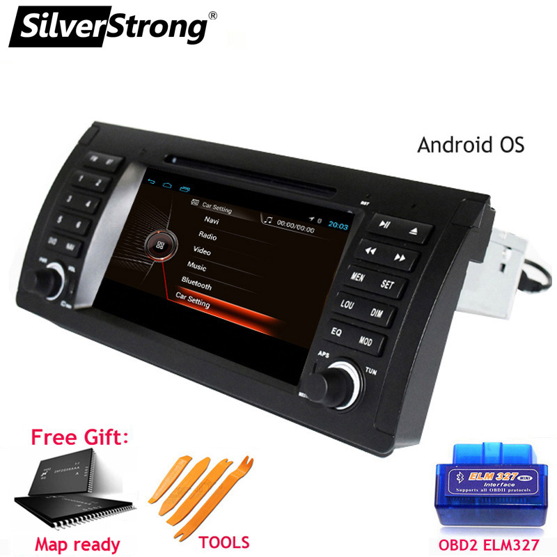 SilverStrong 1Din 7inch Android9 0 Car DVD Player for BMW X5 E53 E39 318 320 GPS