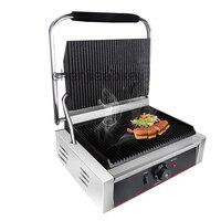 Rvs elektrische sandwich maker Non Stick panini grill machine Bakplaat Grill Druk Plaat gebraden steak 1 pc