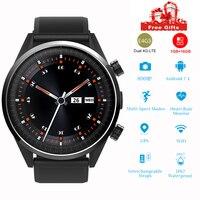 Смарт часы для мужчин женщина 4 г LTE телефон Wi Fi 1,4 дюймов 8 миллионов пикселей камера Gps сердечного ритма водонепроницаемый 2019 Android motion smartwatch