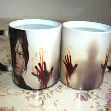 """Прямая поставка! кружки """"Ходячие мертвецы"""", кружка для кофе, чая, молока, меняющая цвет, керамическая кружка"""