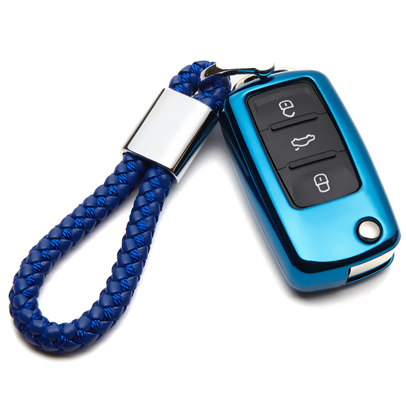 TPU Car Key Cover Case For VW Polo T5 Scirocco Sharan Tiguan Jetta 6 Up Passat CC B8 B6 B5.5 B7 Golf Key Ring Shell Accessories|Key Case for Car| |  - title=
