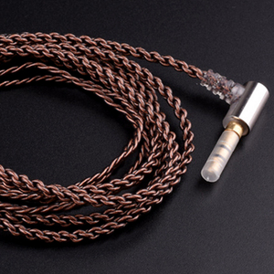 Image 5 - DIY custom fever upgraded headphone line high quality  metal accessories pure hand woven single crystal copper wire