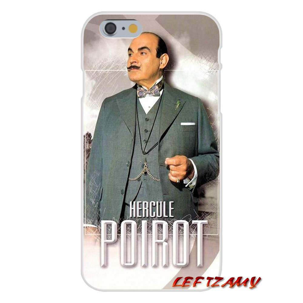 new product 01e3f 20664 US $0.99  Agatha Christie's Poirot Slim Silicone phone Case For iPhone X 4  4S 5 5S 5C SE 6 6S 7 8 Plus-in Half-wrapped Case from Cellphones & ...