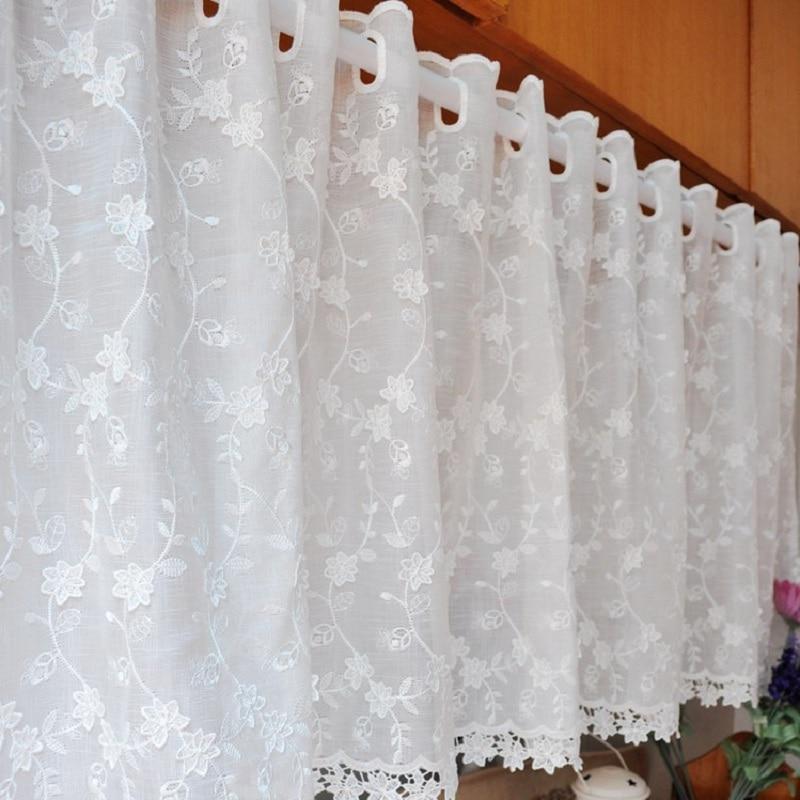 Envío Gratis Pastoral bordado Lino café cortina cocina cortinas para ...