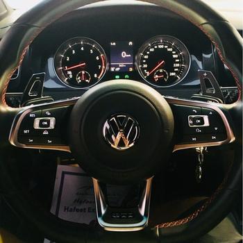 For Volkswagen VW Golf MK6 GTI Jetta MK5 Passat B6 Touran CC Scirocco R36 Steering Wheel Change Aluminum Extension Paddle Shift multifunction steering wheel module control unit 5k0 953 549 b airbag cable 5k0 971 584 for vw golf 6 mk6 jetta touran octavia
