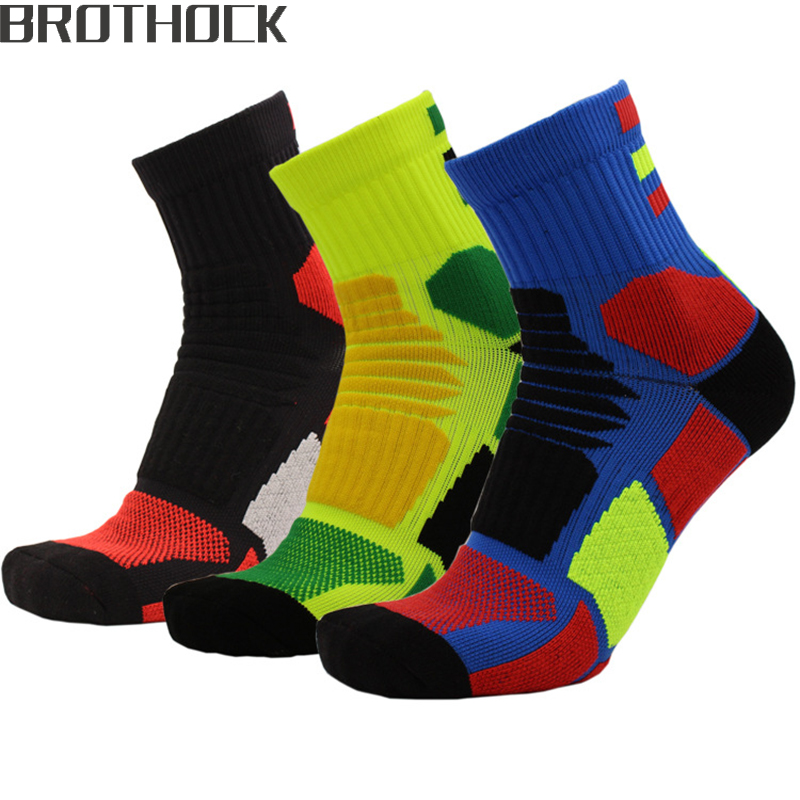 Brothock Basketball Socks Cotton Towel End Men's Sports Socks Thickness Sweat Breathable Factory Outlets A Hair Can Customized