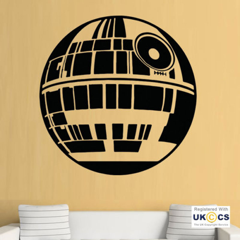 Wall Stickers Star wars Death Star Film Movie Art Decals Vinyl Home Room Decor DY30 image