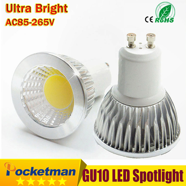 Led Bulb Gu10 Cob Spot Light 6w 9w 12w Spotlight Lamp Dimmable Ac85v 265v Super Bright Free Shipping