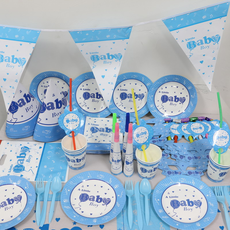 Party Supplies For Baby Boy Kids 1st Birthday Party Tableware Set Tablecloth Hat Party Tableware Serveware Patterer Home Garden