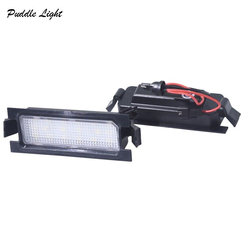 06 2x 18smd הלבן רכב שגיאת סטיילינג אור לוחית רישוי חינם LED עבור KIA PRO CEED (06-11) יונדאי I30 (GD) מנורות צלחת מספר זנב מכונית (1)