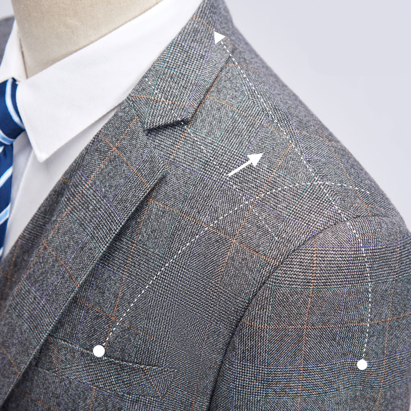 2018 Latest Coat Pant Designs Gray Slim Fit Groom Tuxedos Men Suits Wedding Suits Men Prom Tuxedo Suit Gentleman Style 3 Psc 4XL