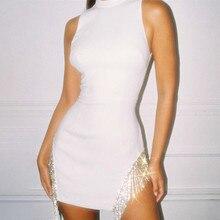 Causey  Diamond Tassel Sexy Party Dresses Women Mini Summer Dress 2019 Bodycon Elegant