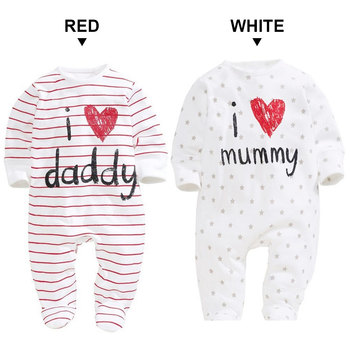 Newborn Baby Clothes Boy Girl Kids Cotton Rompers Funny Cute I love Mummy Daddy Long Sleeve Spring Soft Infant Clothing toddler redmi note 7 pro cover