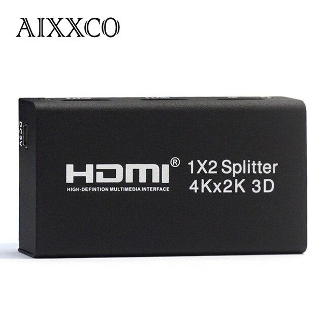 AIXXCO 3D 1 Input 2/4 Output V1.4 4K HDMI Switch HDMI 1x2 1X4 Splitter HDMI Port for PS3 PS4 for Xbox 360 PC DV DVD HDTV 1080P