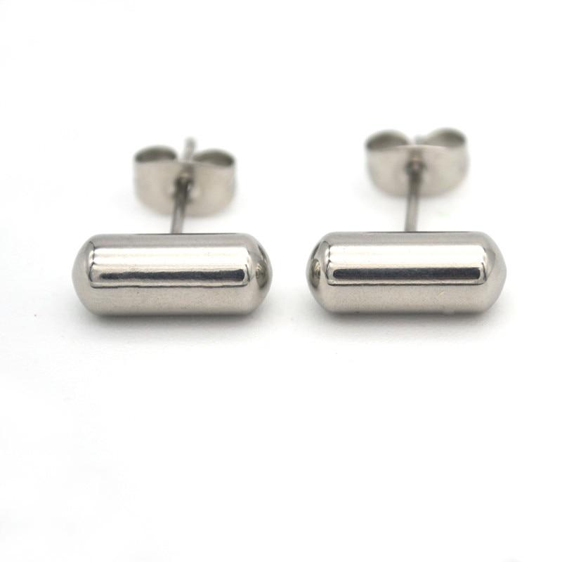 Surgical Steel Ear Stud Pin 6mm Earrings For women Men Cool 50pair Punk Jewelry Trendy