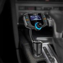 Nero Bluetooth FM Trasmettitore USB Senza Fili Hands Free Car Kit