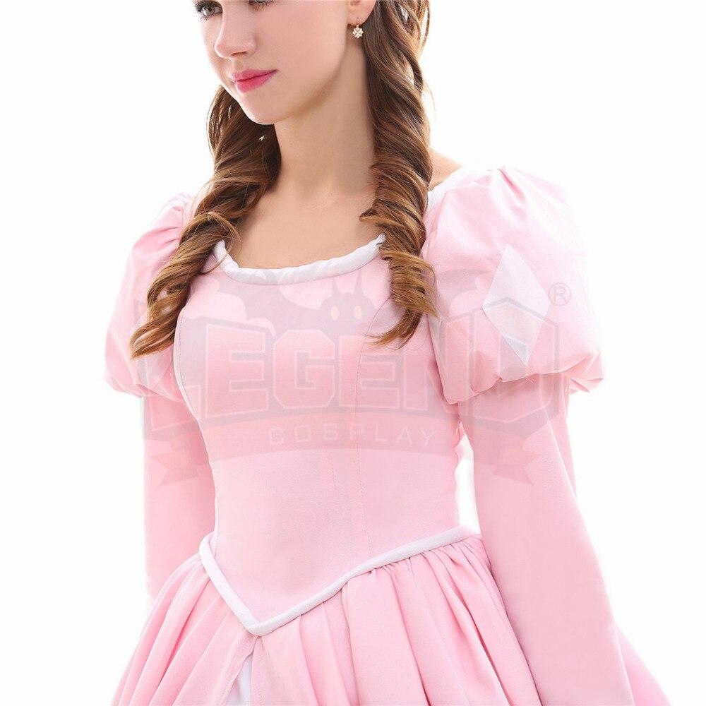 La pequeña sirena Ariel princesa Ariel traje Rosa Ariel vestido de ...