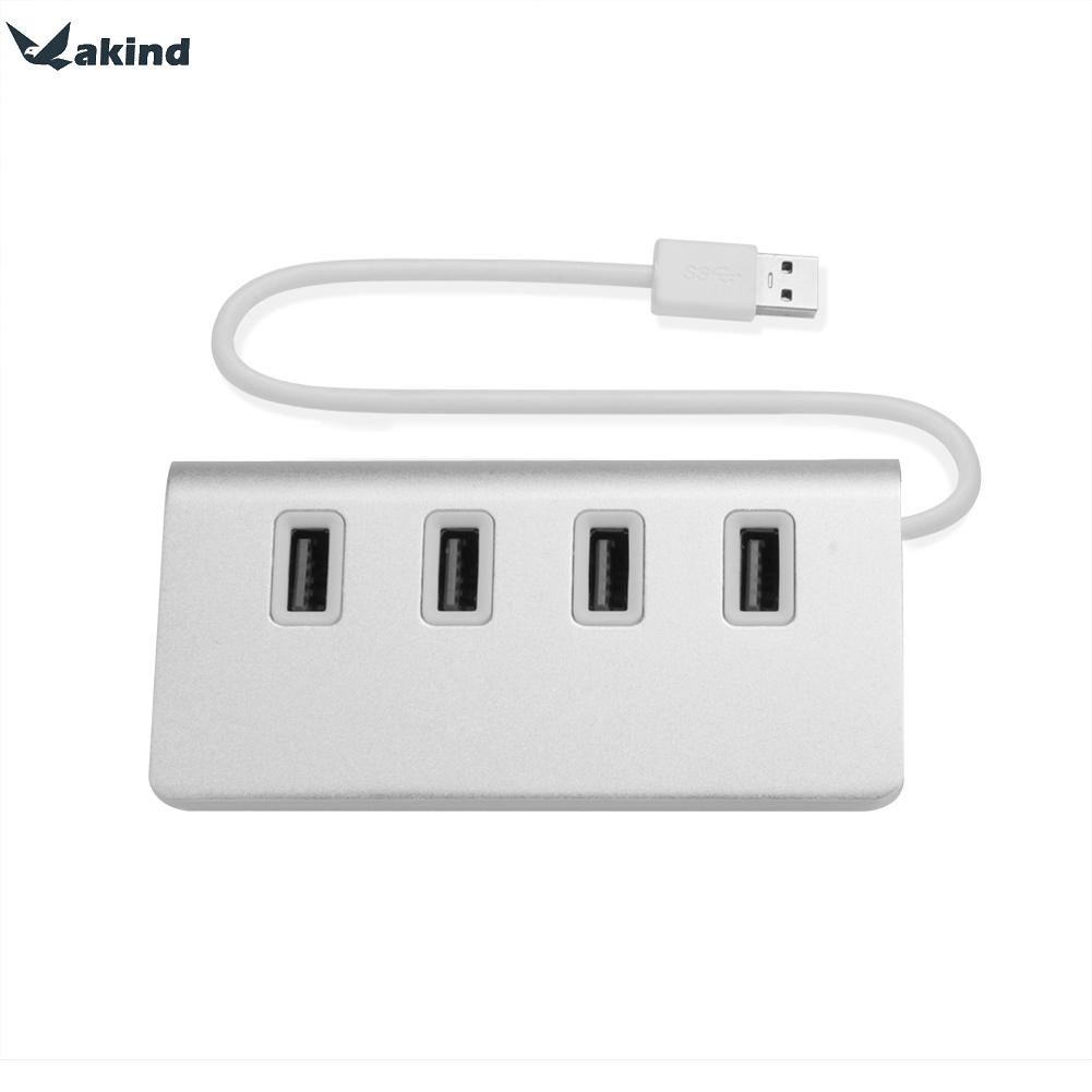 Premium Aluminum 4 Port 2 0 USB Hub Cable For iMac MacBook Mac font b Mini