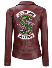 New River Valley Town Viper Snake Lady PU Leather Jacket Riverdale American Drama Jacket Slim Short PU Leather Jacket(China)